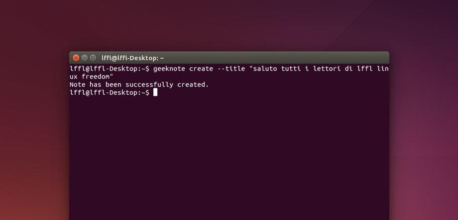 Geeknote in Ubuntu