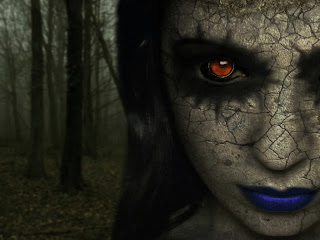 Gothic Girl In The Forest Dark Gothic Wallpaper