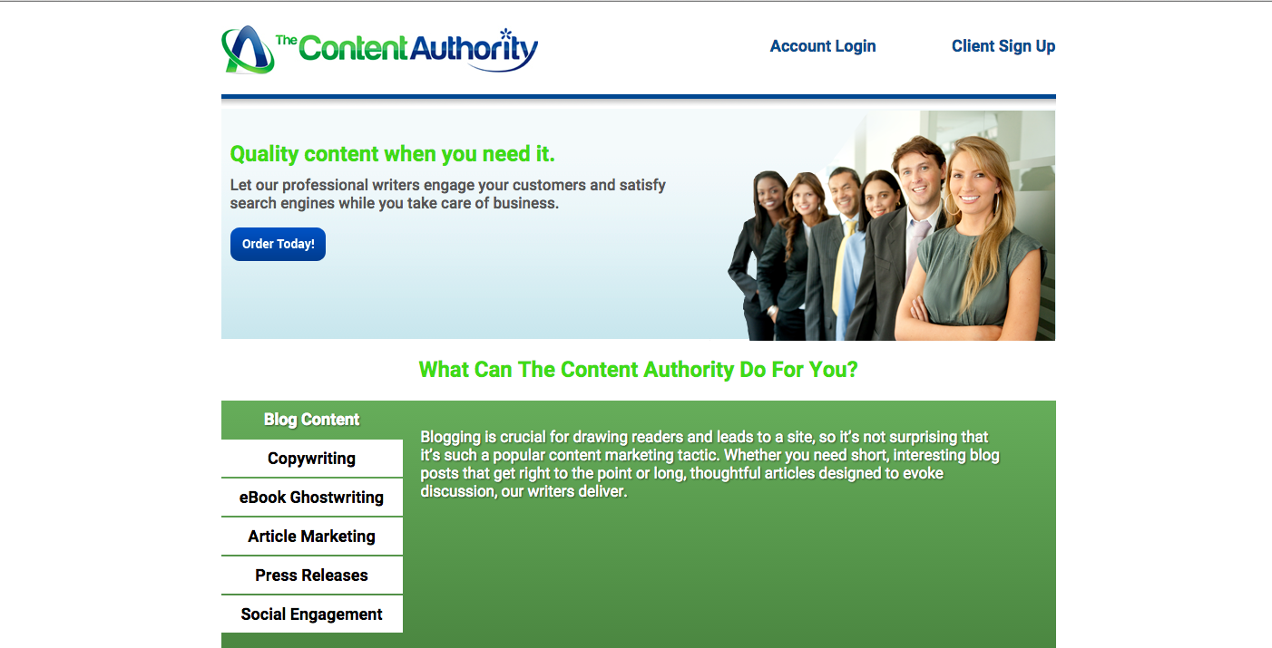 work from home job lead the content authority telecommunity the content authority is a content creation company that provides writing projects such as ghost writing article writing blogging and ebook writing to
