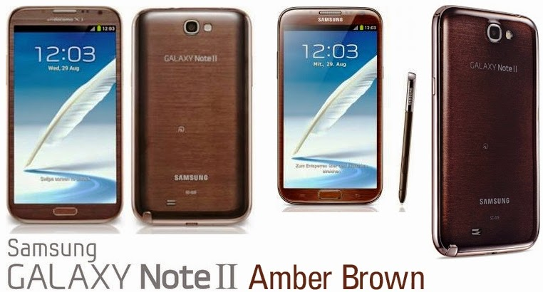 Samsung Galaxy Note 2 Amber Brown Galaxy Note ii Amber Brown