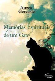 Capa do livro Memórias Espirituais de um Gato, de Aurea Gervasio.