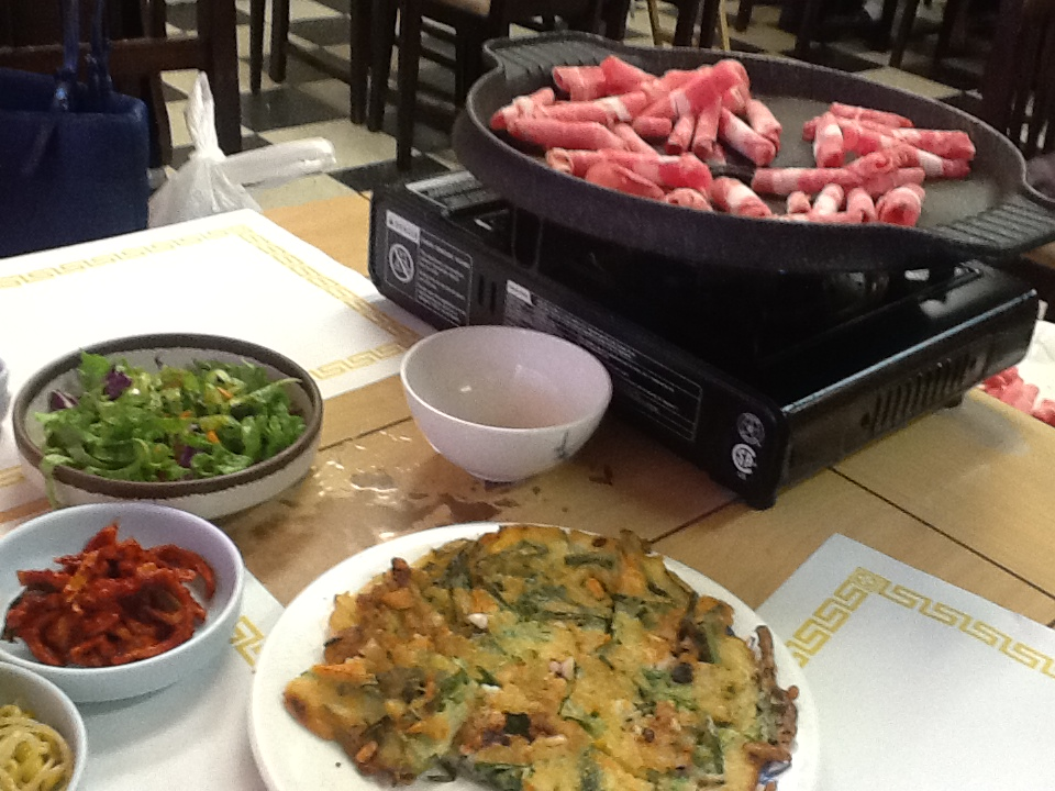 The pastry chef 39 s baking restaurant review tobang korean bbq - How to build a korean bbq table ...