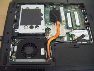 perbaiki laptop karena panas