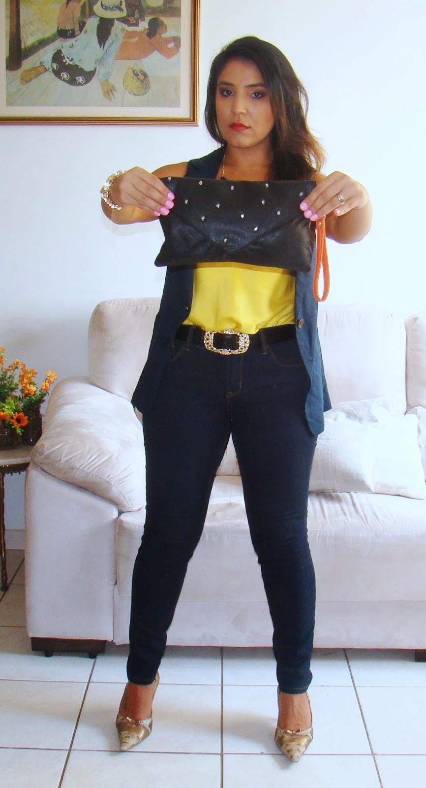Look do dia: Colete + Calça Jeans