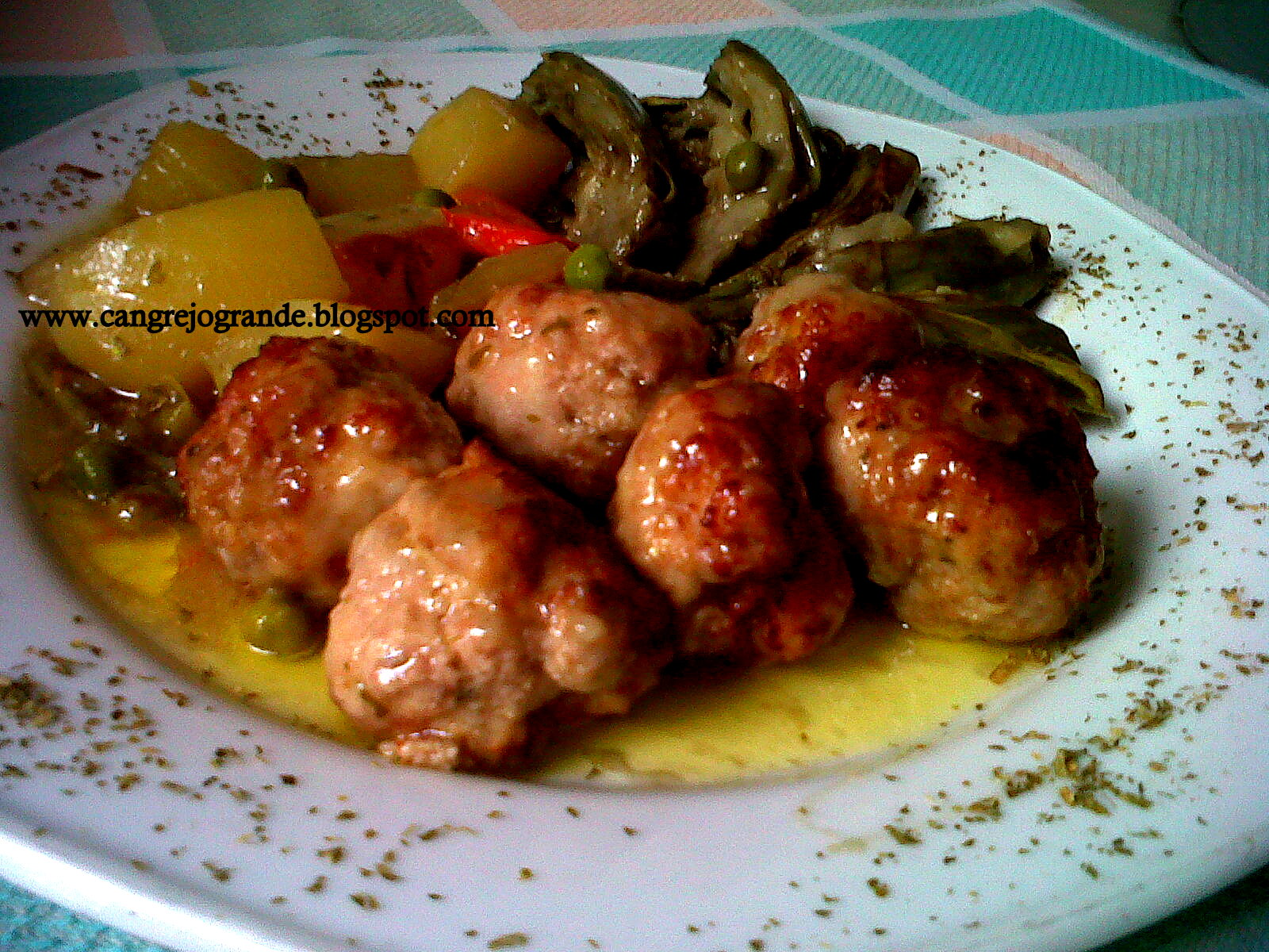 Cangrejo grande alb ndigas con verduras y alcachofas - Albondigas con verduras ...