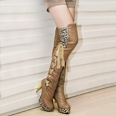 http://cuteharajuku.storenvy.com/collections/399363-boots/products/9075403-sexy-lace-up-leopard-knee-high-heeled-boots