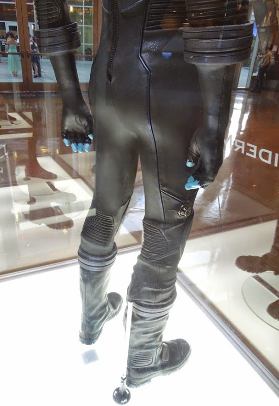 Electro movie costume leg detail