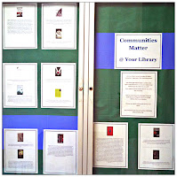 Commutities Matter Challenged/Banned Books Display