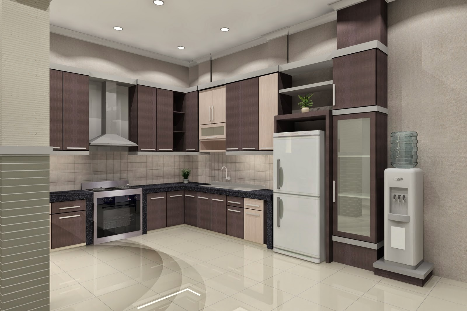 Simple minimalist kitchen design 2015 home design ideas 2015 for Dapur kitchen set