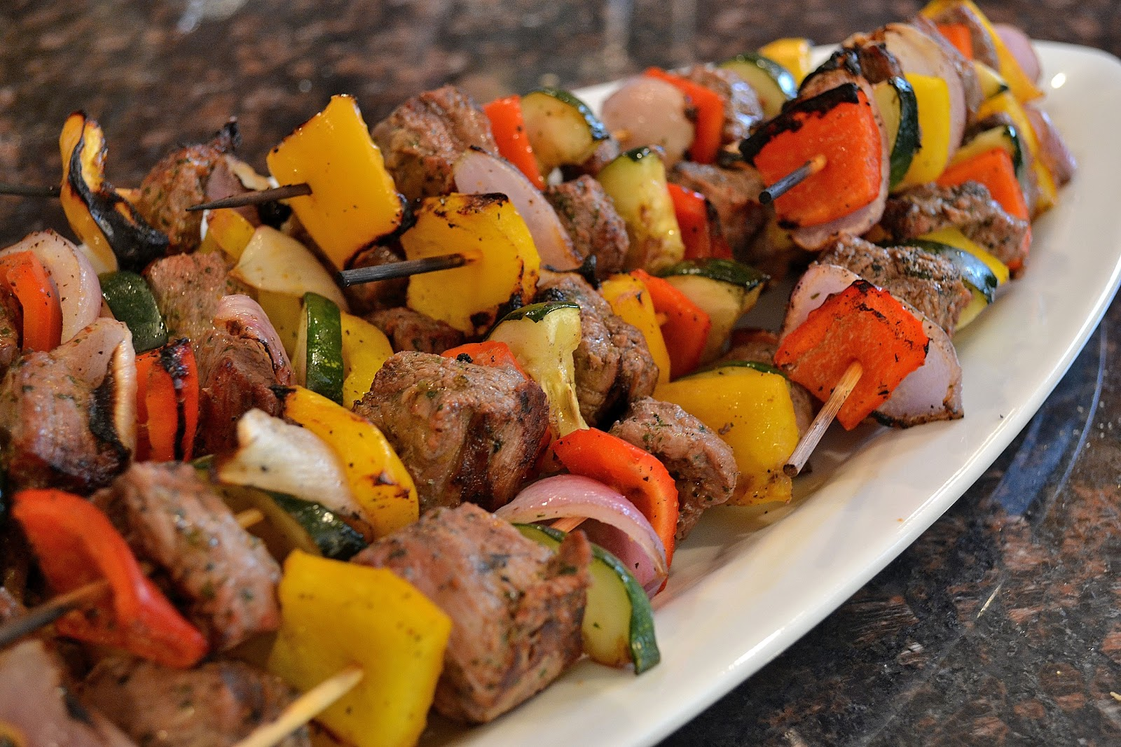 Type A Kitchen: Marinated Steak and Vegetable Kabobs