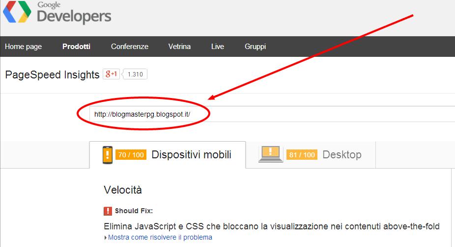 La velocità di caricamento di BlogMaster