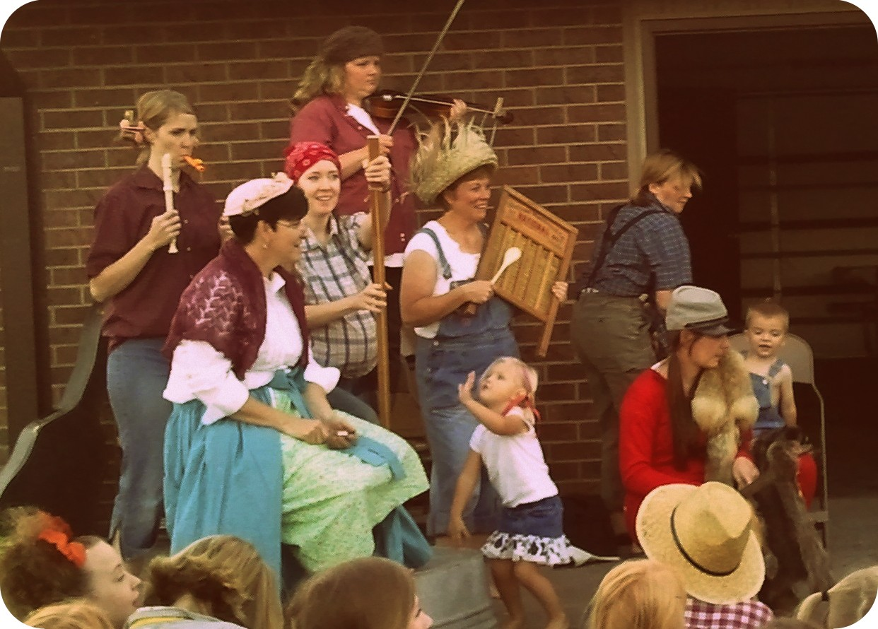 The relief society and primary band - they were so cute and their song ...