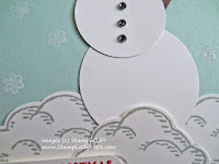 Snowman Card made with Stampin'UP!'s Sprinkles of Life stamp set and Tree Builder punch