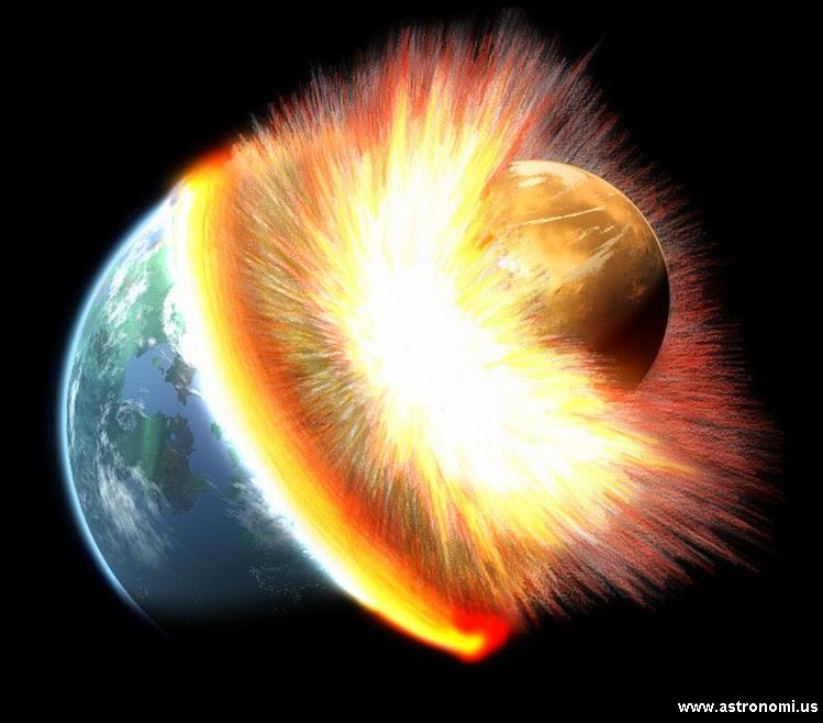 Bulan Terbentuk Akibat Tabrakan Bumi dengan Planet Theia