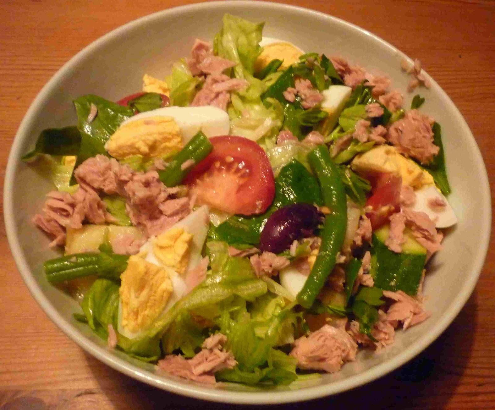 Salad Nicoise was our dinner last night.