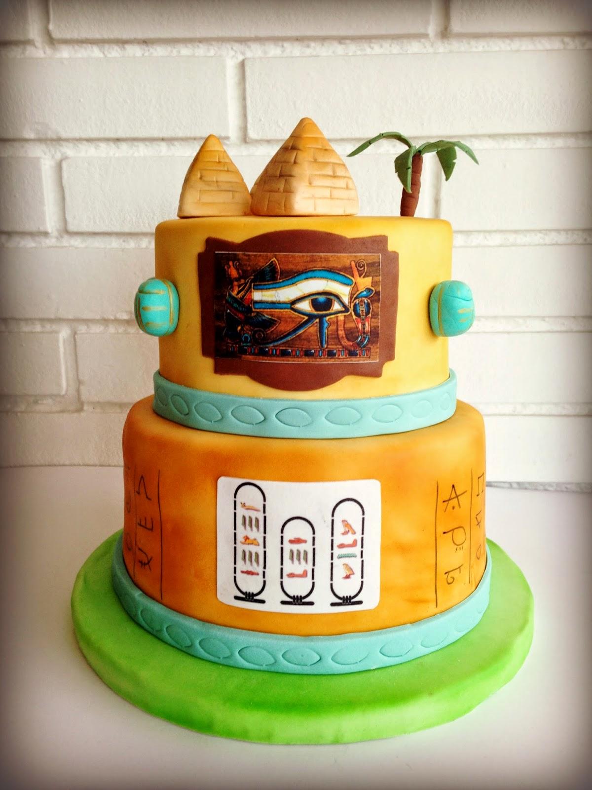 egipt fondant cake