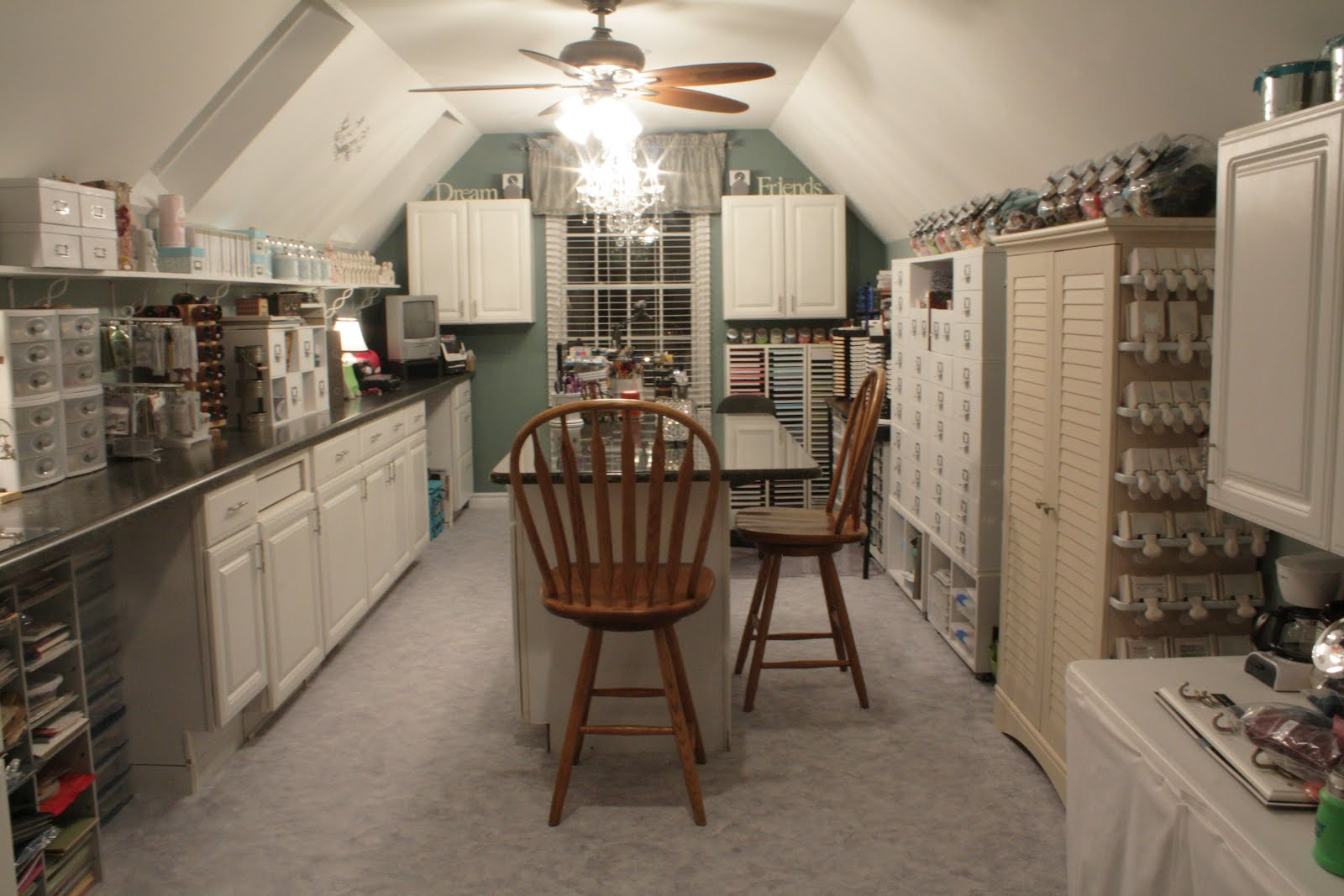 Attic works attic craft room must see for Cost to finish bonus room over garage