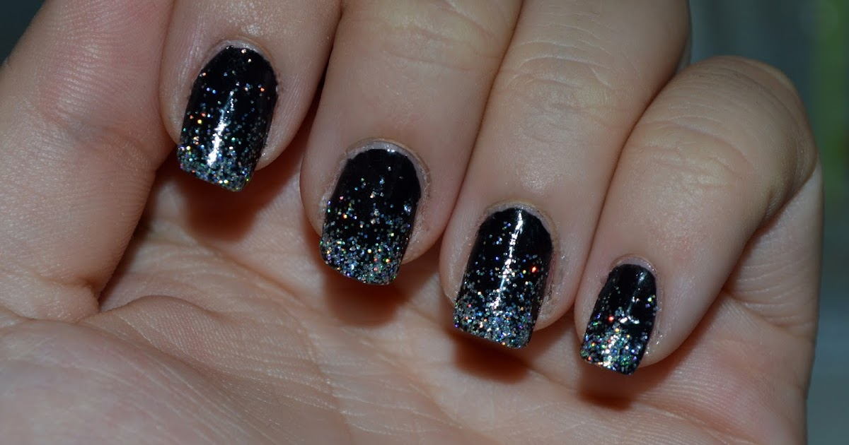 tina malinas welt ombre nails schwarz glitzer. Black Bedroom Furniture Sets. Home Design Ideas
