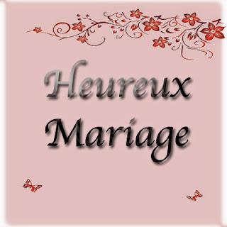Carte heureux mariage à imprimer gratuitement
