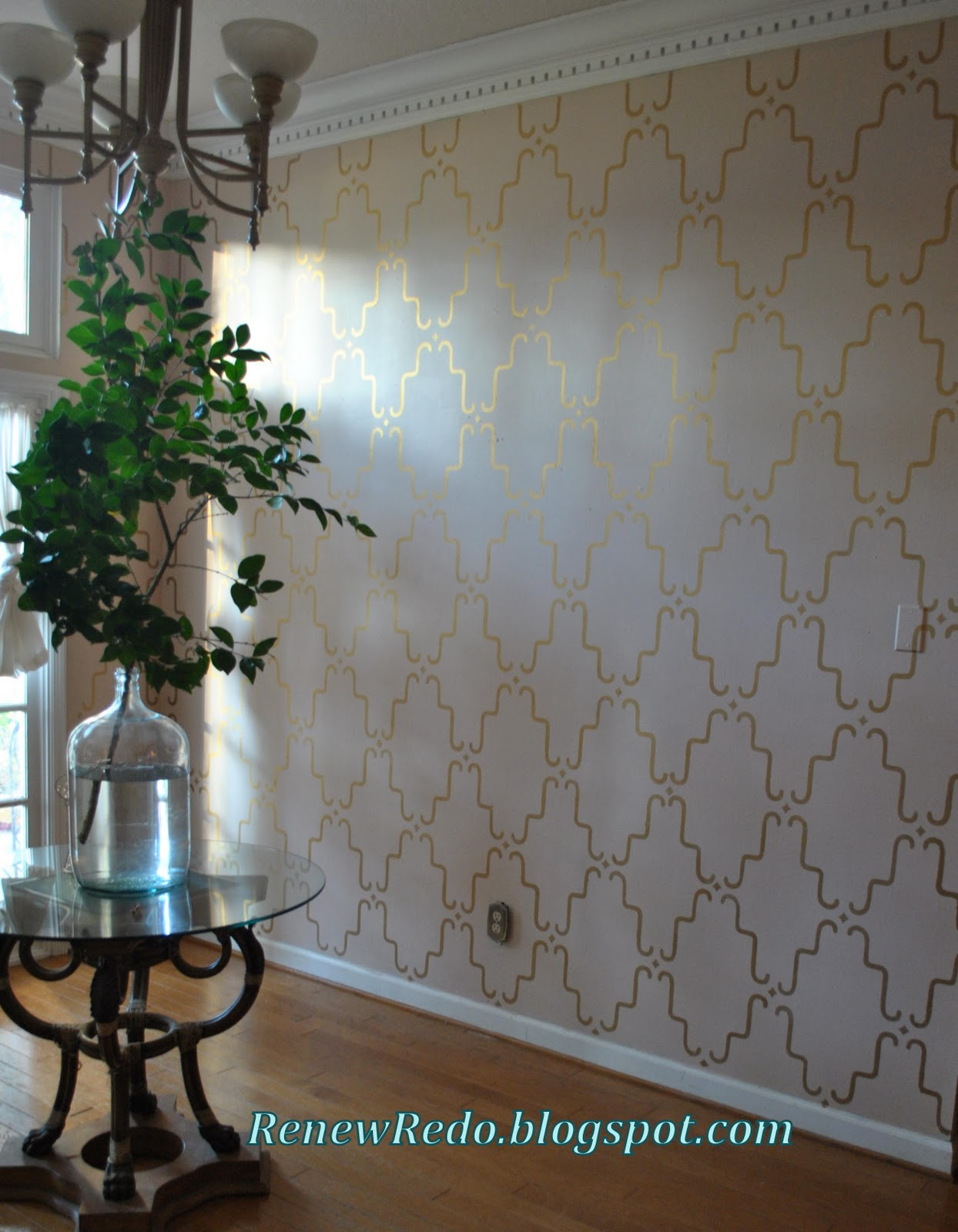 Stenciled walls choice image home wall decoration ideas renew redo hall wall stencil rubbed and buffed hall wall stencil rubbed and buffed amipublicfo choice amipublicfo Image collections