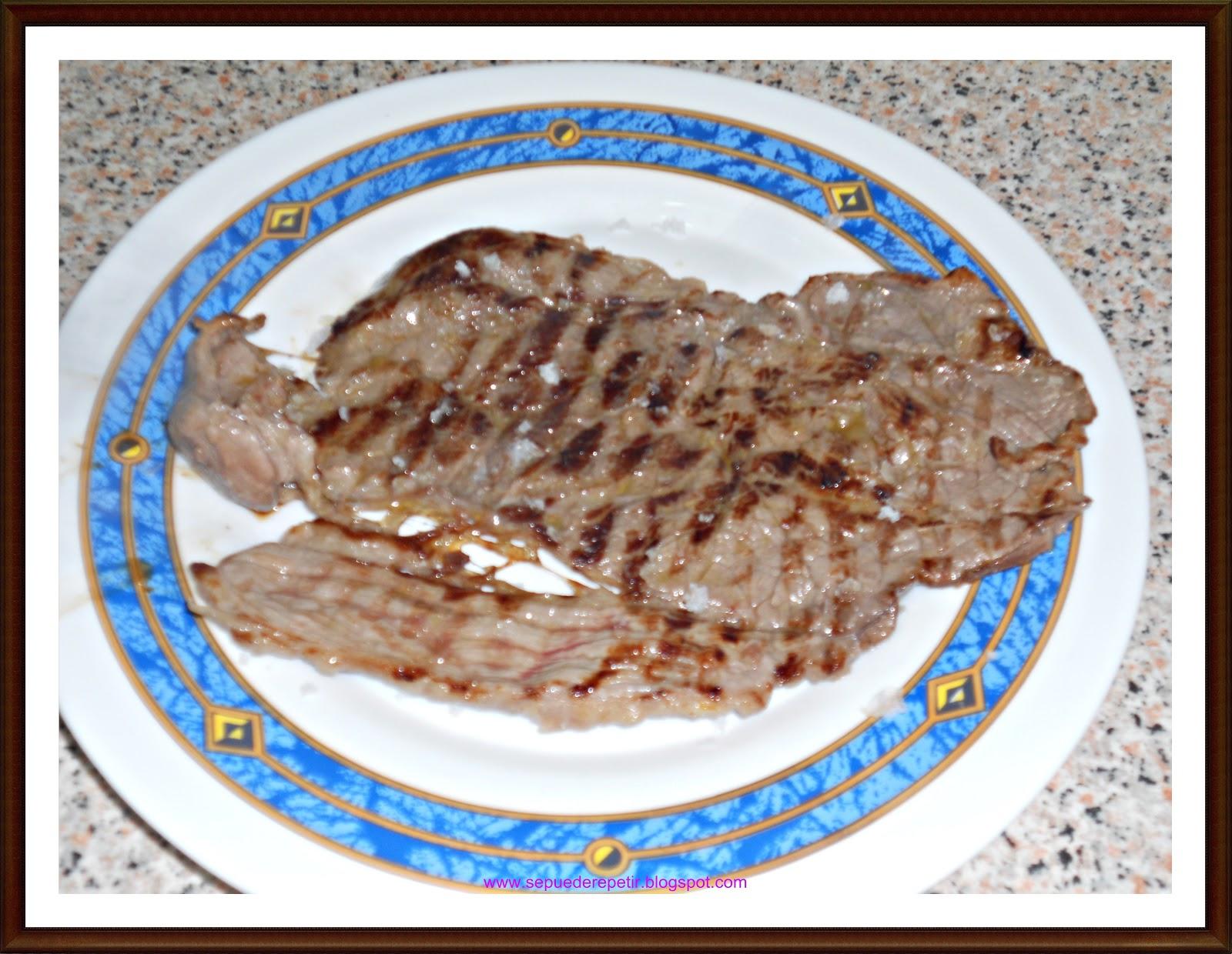 Se puede repetir filete de ternera a la plancha for Cocinar filetes de ternera