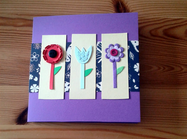 Handmade Purple Flower Card DIY