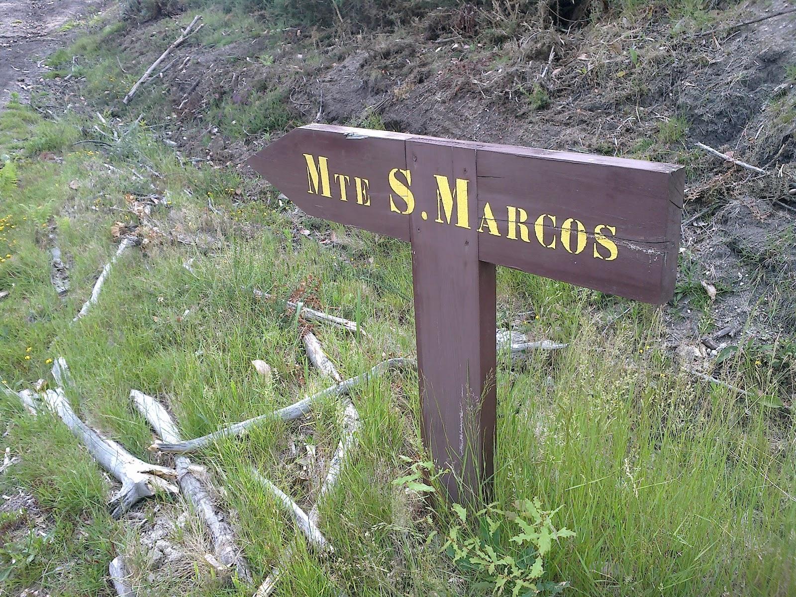 Señal en el monte de San Marcos