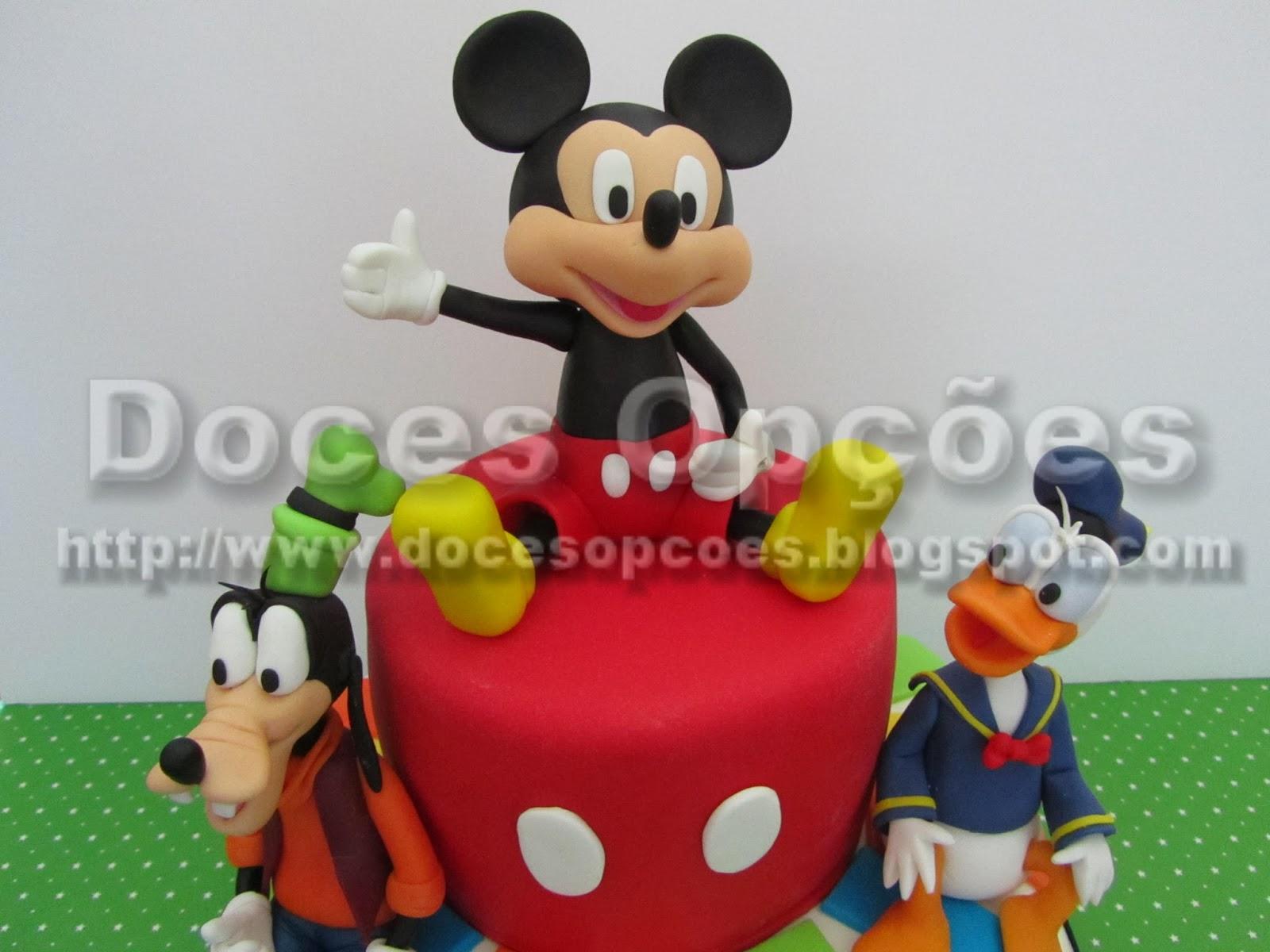 bolos decorados aniversário mickey e amigos