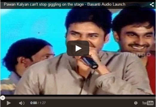 Pawan Kalyan can't stop giggling on the stage - Basanti Audio Launch