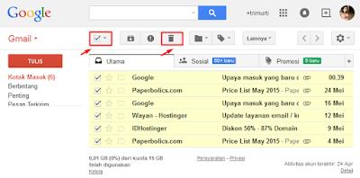 Tips Menghapus Pesan Gmail Secara Cepat