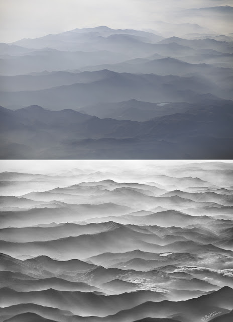 Before-After - Ocean Mountains - Artwork by Ben Heine