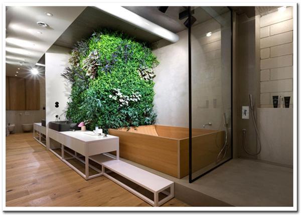 mãng thực vật xanh trong thiết kế nội thất 2016