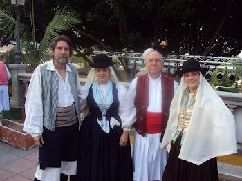 Con Don José Lantigua y María Hernandez en Gran Canaria 2010.