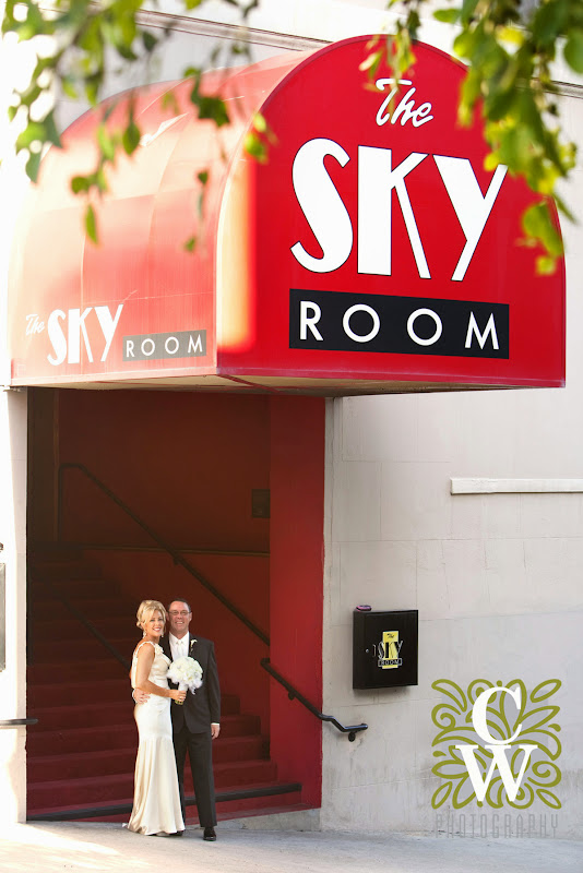 vintage retro wedding skyroom long beach