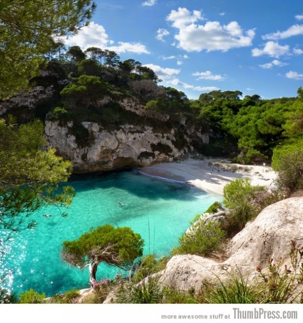Blue waters of Menorca - Balearic Island of Spain picture