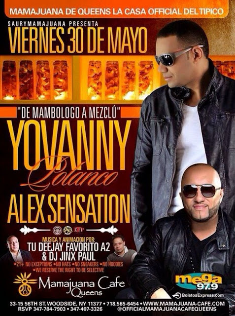 Yovanny Polanco - Mamajuana Cafe - May 2014