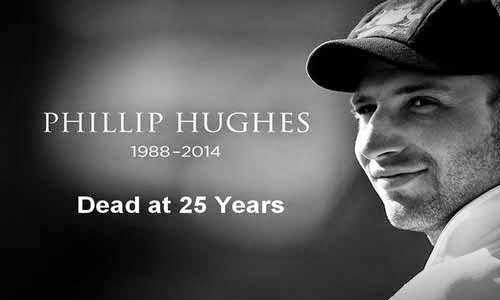 Australian Cricketer Phil Hughes dead at 25 by a brutal Bouncer on Head
