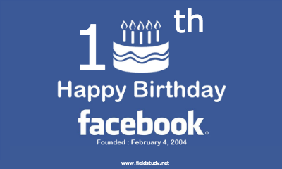 عيد سعيد للفيس بوك للعام العاشر شاهد ما حققه الفيس بوك  في 10 سنوات