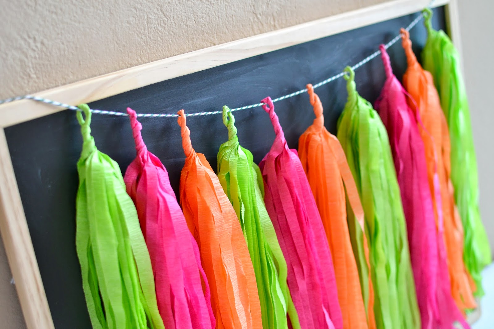 Mommy Testers , Garden Party Tassel Garland, Summer Party Decor