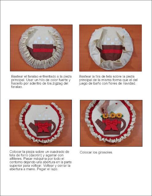 Taller De Sonia Lenceria De Baño:Les coloco el paso a paso de la tapa de la poceta con girasoles con