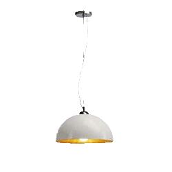 lampara cocina techo colgada blanca acero