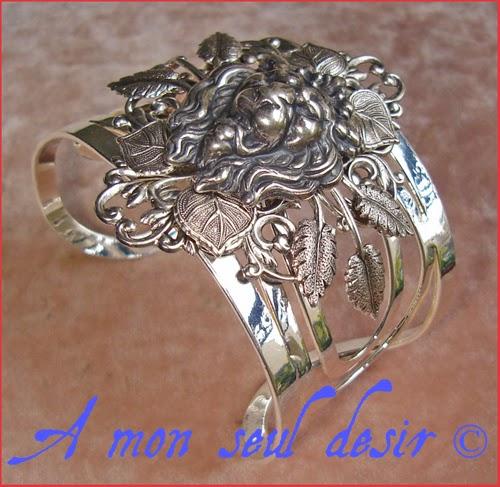Bracelet médiéval bijou lion Lannister renaissance jewel