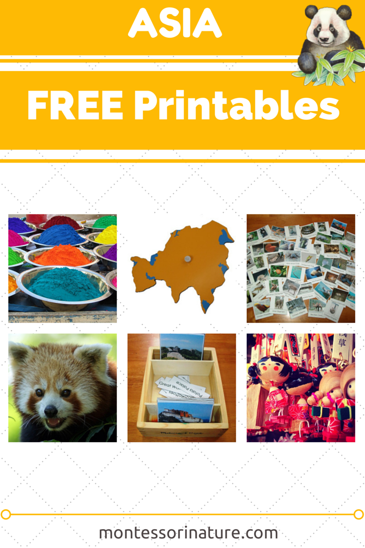 Asia Free Printables Resources for the Montessori