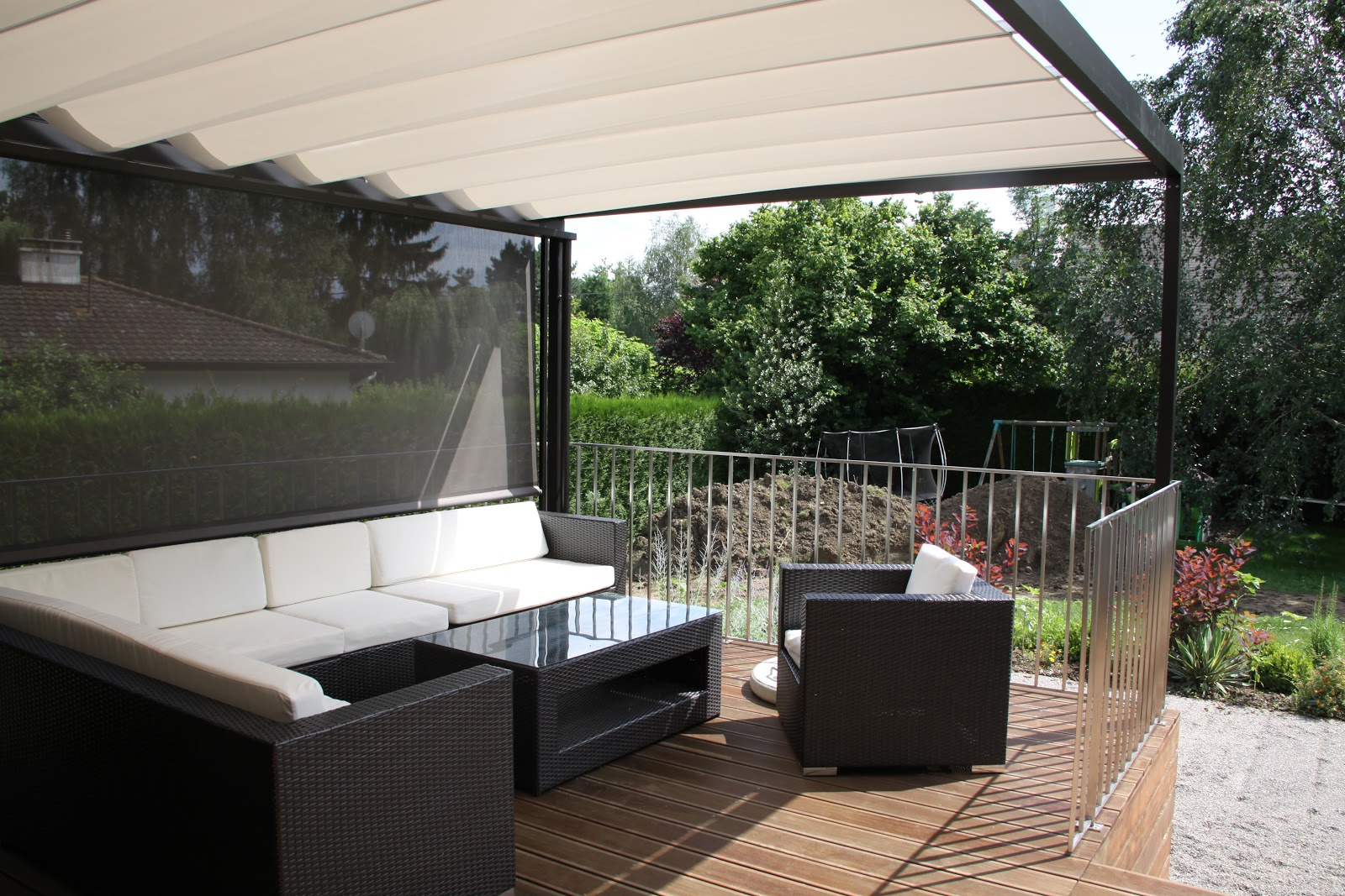 Sun shade for the large deck living in switzerland - Shade canopy for deck ...