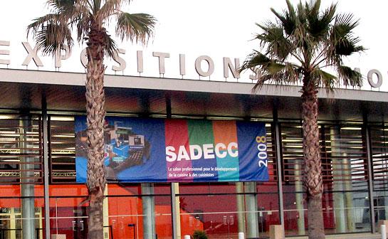 Entrée du Sadecc avec ses palmiers au salon EUREXPO à Lyon