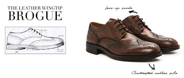zapato derby con decoracion full brogue