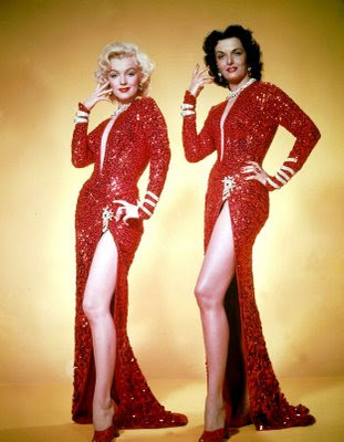 Jane Russel and Marylin Monroe