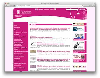 Web del Área de Igualdad de Oportunidades