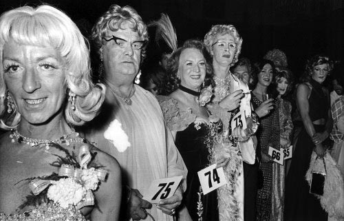 Drag Ball in the UK, circa 1970.