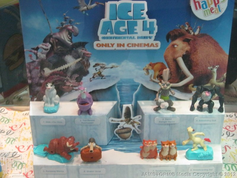 geekmatic happy meal 2012 ice age continental drift